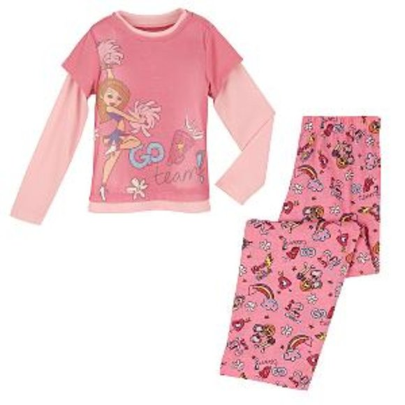 Disney Girls Winnie The Pooh 2pc Pajamas,NWT,Pink//White Short Sleeves//Long Pant